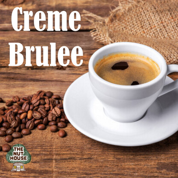 Creme Brulee Coffee has flavors of creamy vanilla with hint of cinnamon, nutmeg and caramel.