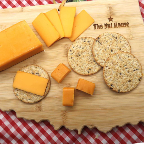 Shelf Stable Smoked Cheddar Cheese 8 oz Cheese The Nut House