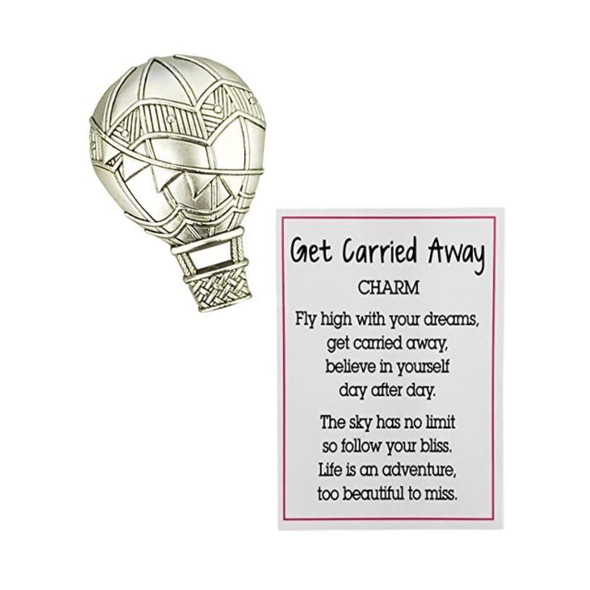 Get carried away balloon charm with sentiment card