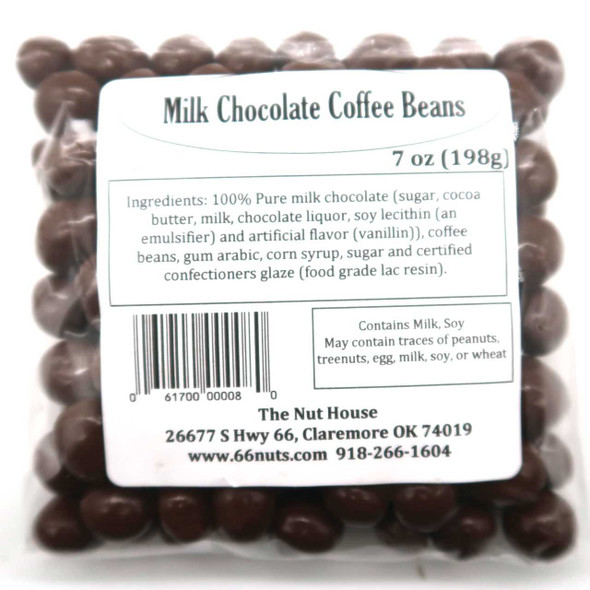 Milk Chocolate Covered Coffee Beans 7 oz Candy The Nut House