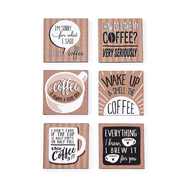 Coffee attitude magnets available in six styles