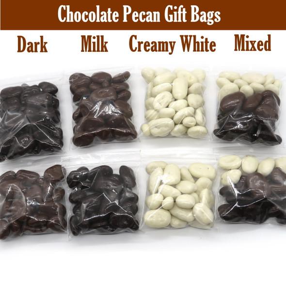 Chocolate Coated Pecans treat Bags