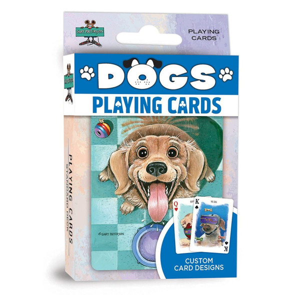 These playing cards are the perfect deck for all dog lovers! Each standard deck contains 52 cards and 2 jokers. All Cards have exclusive Gary Patterson designs of cute Dogs and Puppies.