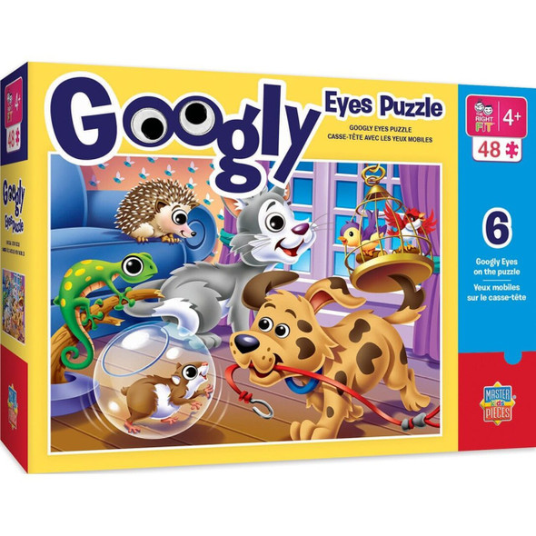 Googly Eyes Pet Puzzle with factory secure googly eyes to entertain kids from ages 4 and up a great family activity