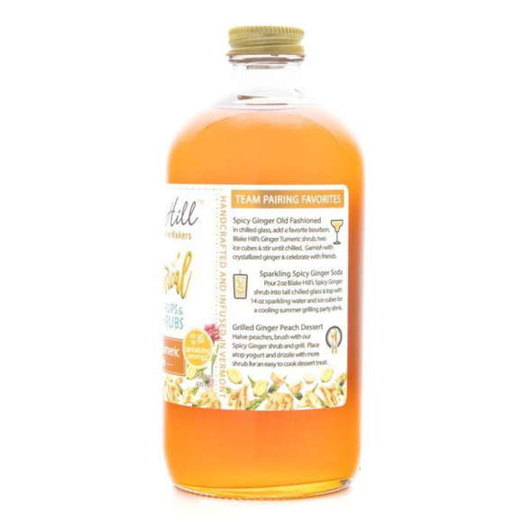 Ginger and Turmeric Shrub Drink Mixer Syrup for cocktails and dessert glaze