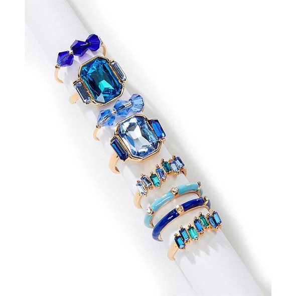 Ocean Blue Gold and Glass Ring Rings The Nut House