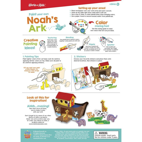 Noah's Ark Paint your own wood kit by MasterPieces at The Nut House
