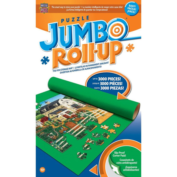 """Puzzle Roll Up - Jumbo 48""""x36"""" - Perfect for puzzles up to 3,000 pieces. Fun and worry-free way to store your unfinished project to return to and complete it at your own leisure."""