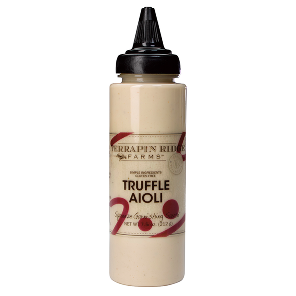 Truffles add subtle, earthy flavor to our creamy aioli.  Use this aioli to add distinctive flavor to sandwiches and roasted vegetables. Squeeze on grilled or roasted chicken. For a real treat drizzle over French Fries or Tater Tots.