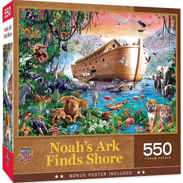 Inspirational - Noah's Ark Finds Shore 550pc Puzzle Jigsaw Puzzles The Nut House