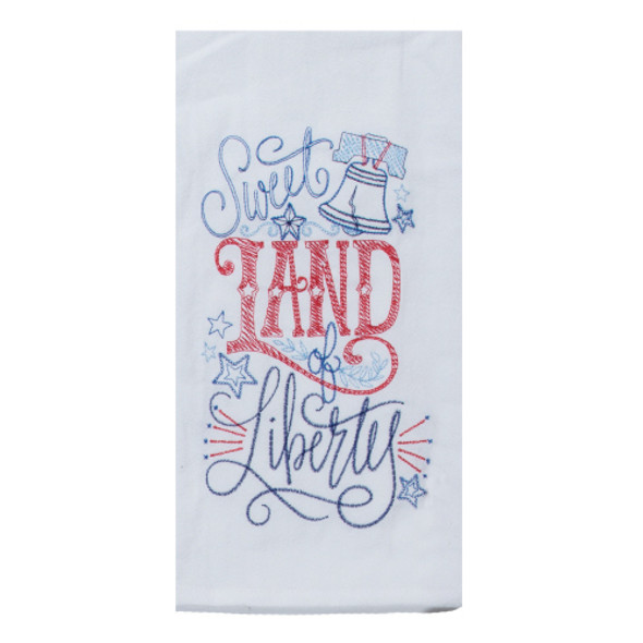 Land of Liberty Embroidered Flour Sack Towel by Kay Dee Designs