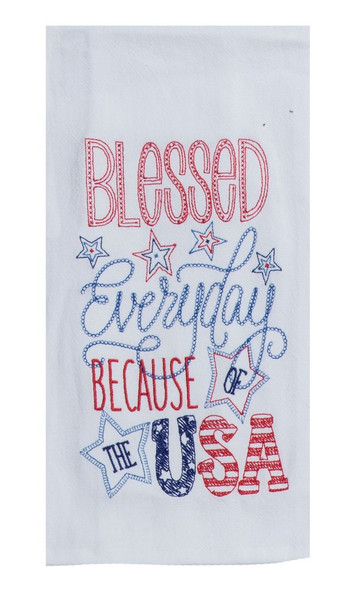 Blessed Everyday flour sack towel by KayDee Designs perfect patriotic gift