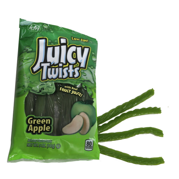 Juicy, fruity flavors made in the USA! Naturally and artificially flavored. Contains real fruit juice. 5 oz bag