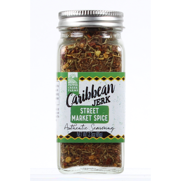 Caribbean Jerk Street Market Spice  Make your own delicious jerked meats and spicy chicken with this aromatic blend of Caribbean spices and seasonings.