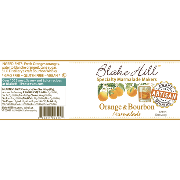 Fresh oranges and bourbon whiskey are a match made in marmalade heaven. These fresh, bright oranges transform into a complex, rich marmalade when simmered in the award-winning bourbon crafted by our neighbors, SILO distillery. Perfect for the whiskey enthusiast!
