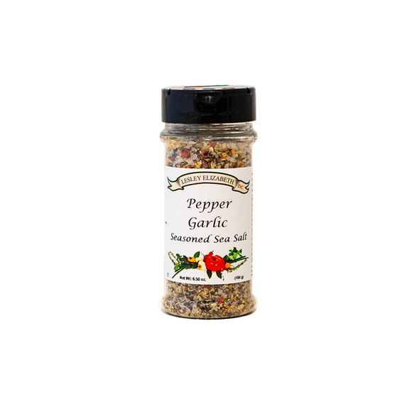 HOW BEST TO USE Like garlic and a touch of heat?…You'll love this blend! For a rub simply drizzle steaks, beef or wild game with oil and generously sprinkle with Pepper & Garlic Seasoned Salt. MARINADE: Use Seasoned Salt in place of table salt to any marinade. INGREDIENTS: Sea Salt, Black Pepper, Sugar, Garlic, Onion, Fennel Seed, Crushed Red Pepper, Bell Pepper, Italian Seasoning.