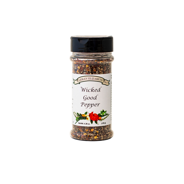 HOW BEST TO USE Salt free and sensational! This blend of different peppers includes just a hint of sugar to take the edge off. Works in every recipe that calls for pepper or simply keep a jar on the table to replace boring old black pepper.  INGREDIENTS: Black Pepper, Sugar, Bell Pepper, Crushed Red Pepper.