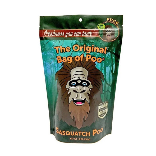 Sasquatch poo cotton candy is really black cherry flavored and doesn't taste like real poo at all.