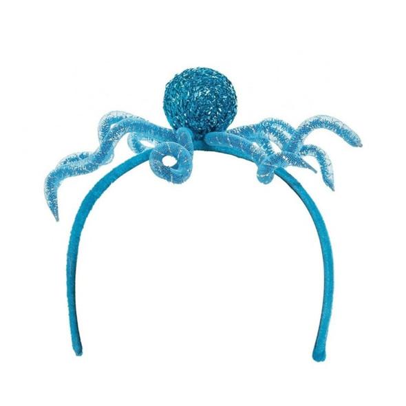 Octopus headband with googly eyes.