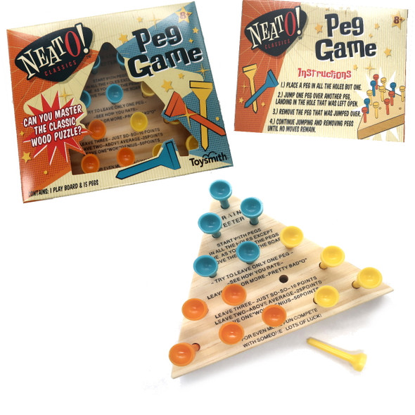 Neato! Classic Wooden Peg Game by Toysmith