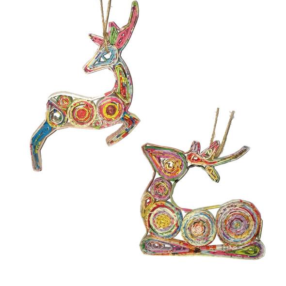 Deer Quillin Ornament