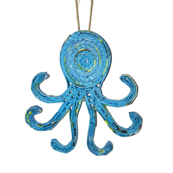 Octopus Quillin Ornament