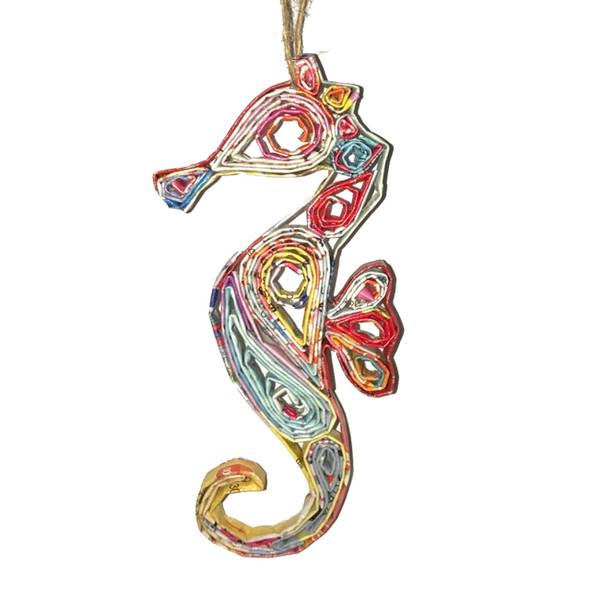 Seahorse Quillin Ornament