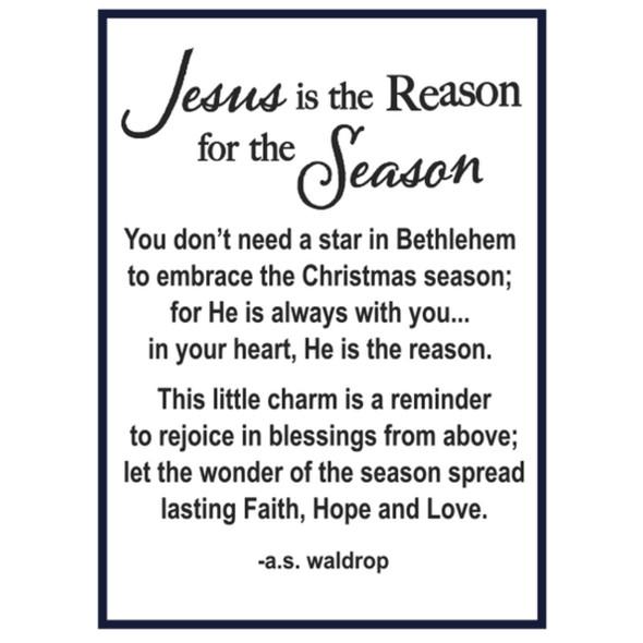 Jesus is the Reason for the Season Nativity Charm