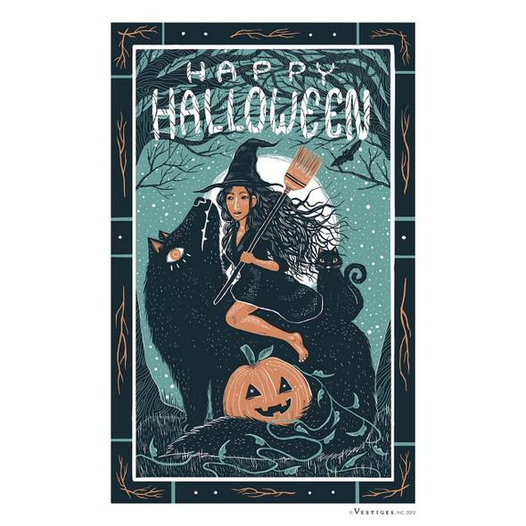 Happy Halloween Witch Towel