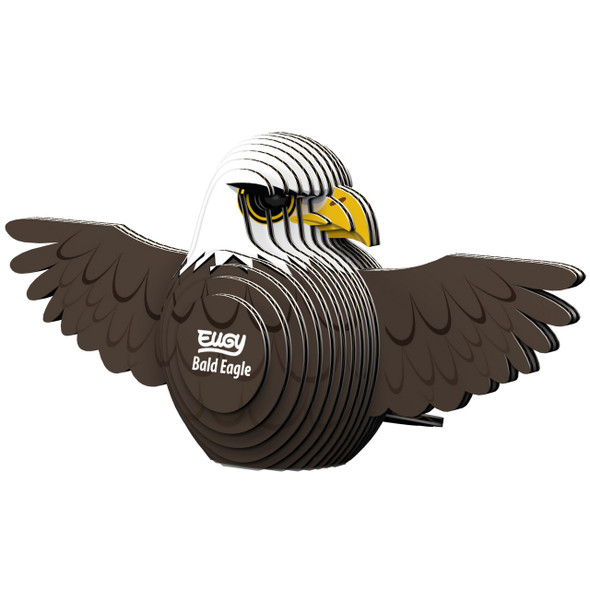 Bald Eagle eugy 3 dimensional puzzle is a fun and educational activity for the whole family to enjoy