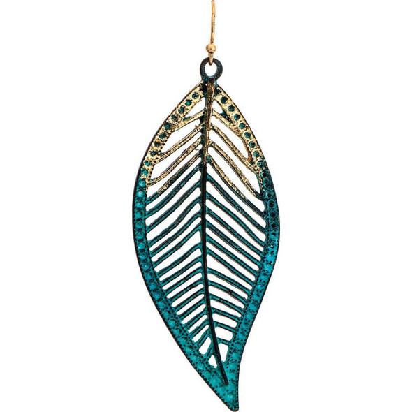 Patina Gold Leaf Earring