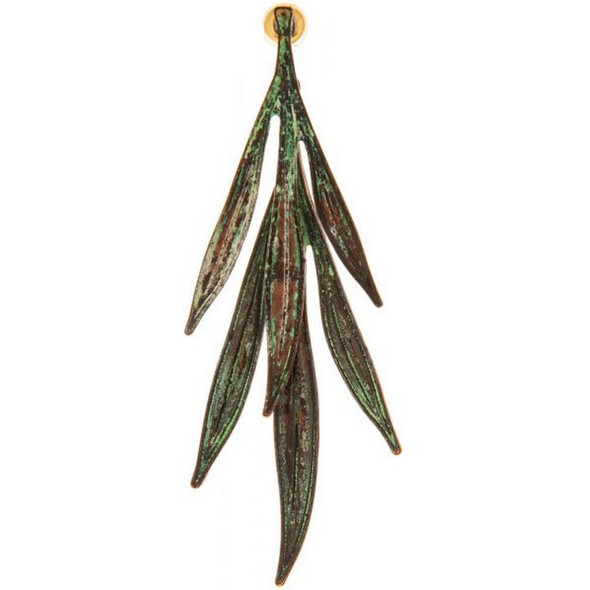 Patina Palm Fronds Post Earring.
