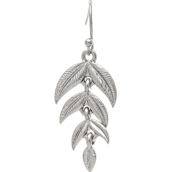 Silver Leaf Cascade Earring