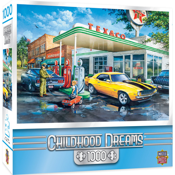 Pops Quik Stop with art by Dan Hatala gas station jigsaw puzzle