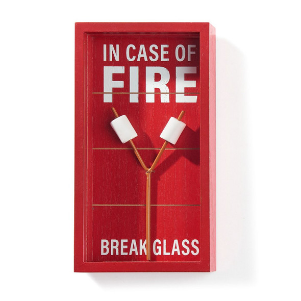 In Case of Fire Marshmallow Wall Decor