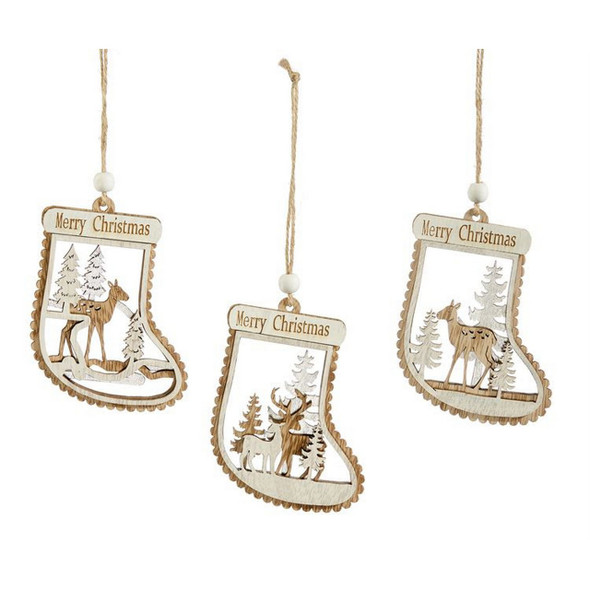 Deer Cut Out Stocking Ornament