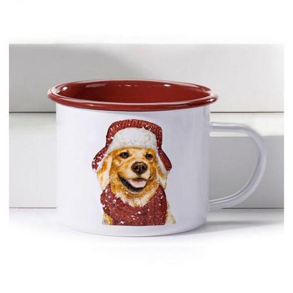 Golden Retriever Enamel Camp Mug