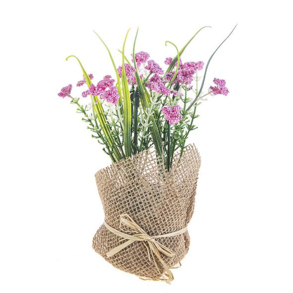 Purple Thistle Flower Bunch