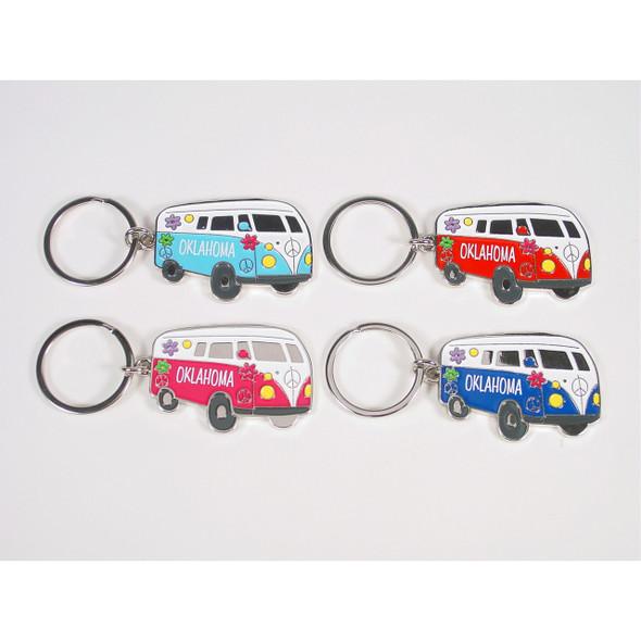 Oklahoma Hippy Van Key Ring