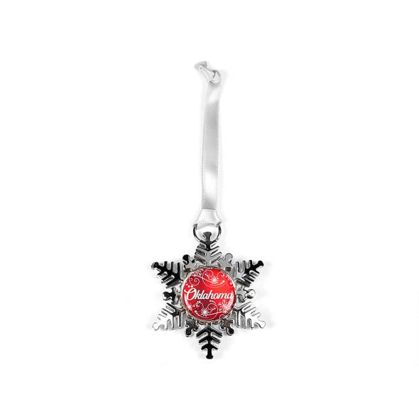 Oklahoma Snowflake Shape Ornament