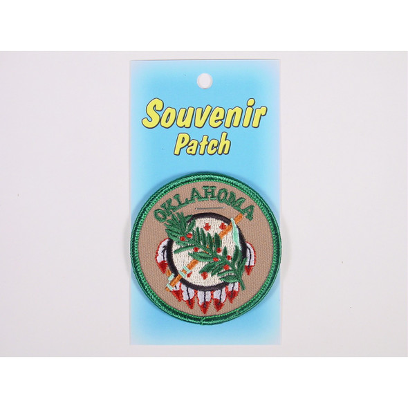 Osage Shield Embroidered Patch