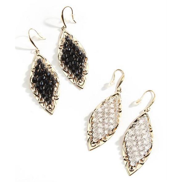 Beaded Glass Earrings