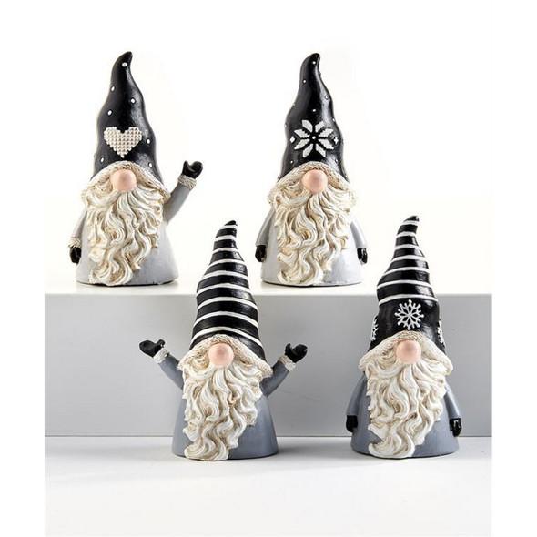 Black Hat Gnome Figurine