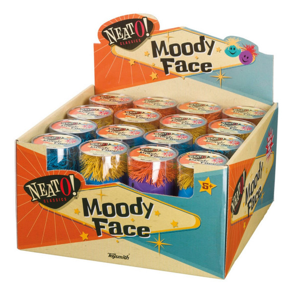 Moody Face Pom Pom Stress Ball