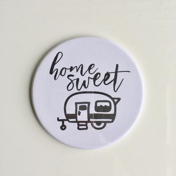 Home Sweet Camper Circle Magnet
