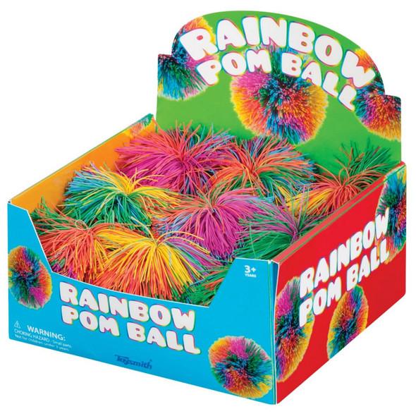 Squishy Rainbow Pom Pom Ball