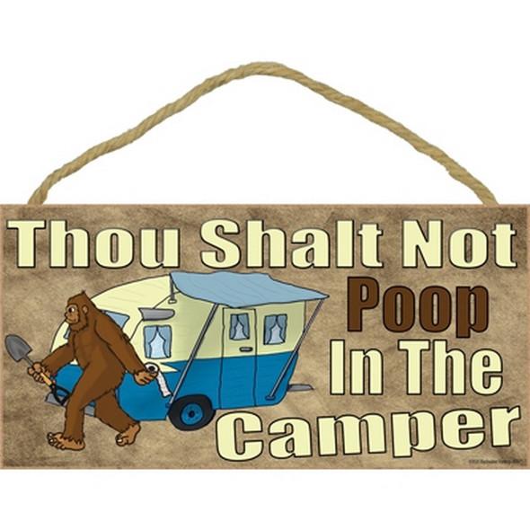 Thou Shalt Not Poop in the Camper Sign