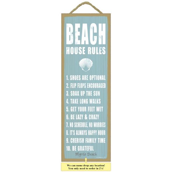 Beach House Rules Plaque