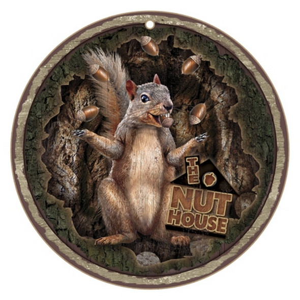 Nut House Juggling Squirrel Plaque