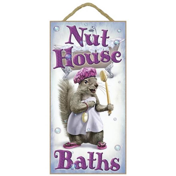 Nut House Baths Squirrel Plaque
